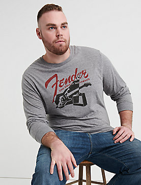BIG AND TALL FENDER RETRO TEE
