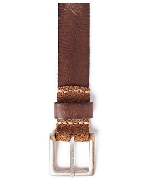 NEWHART LEATHER BELT, BROWN