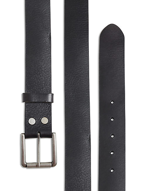 HIGHLAND LEATHER BELT, BLACK