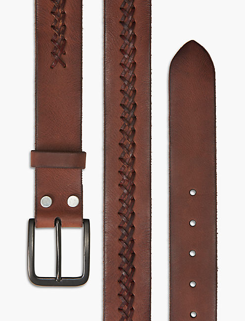 WOVEN LEATHER BELT,