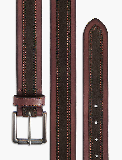 TEXTURED SUEDE BELT,