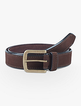 CONTRAST EDGE SUEDE BELT
