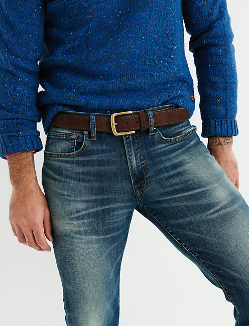 Lucky Contrast Edge Suede Belt