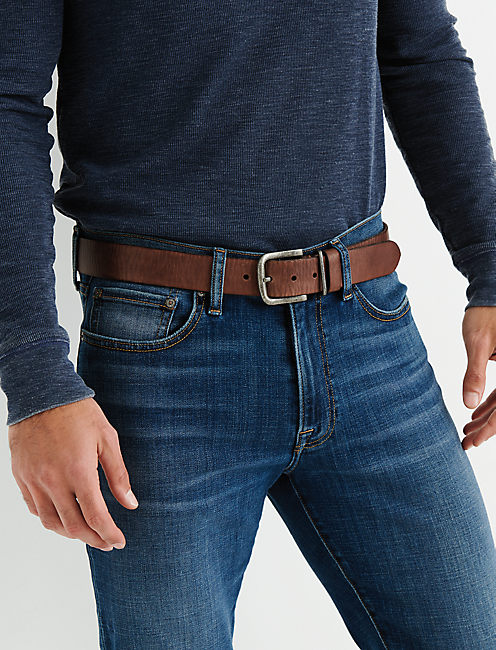 Lucky Brown Leather Belt