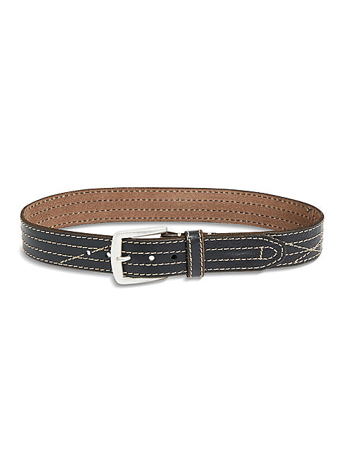 FRANKIE STITCHED BELT, BLACK