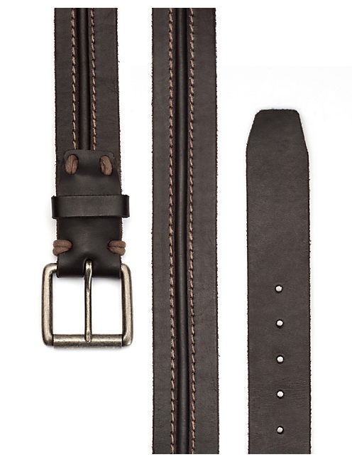 STITCH WITH GROOVE BELT, BLACK