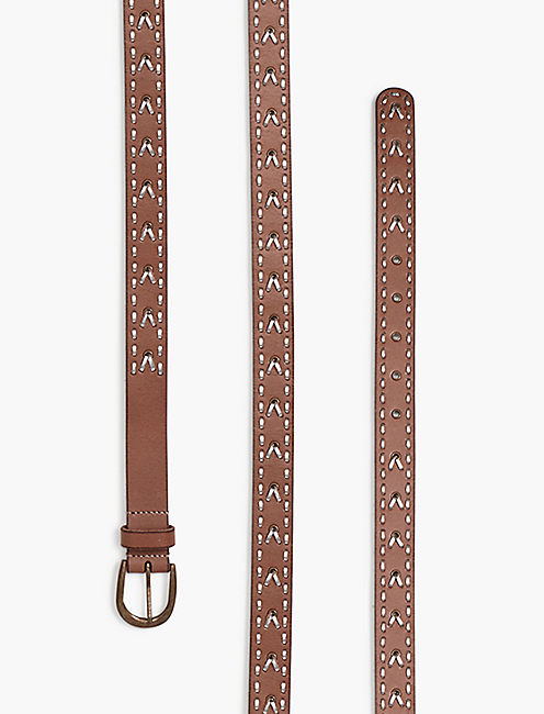 METALLIC STITCH BELT,