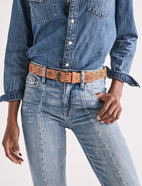 Lucky Perforated Stud Belt