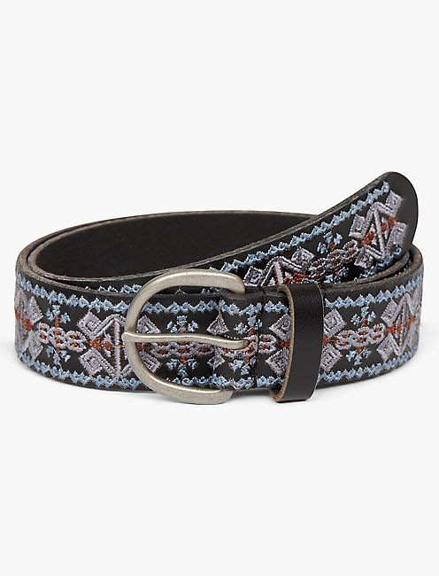 GEO EMBROIDERED BELT,