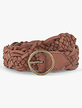 SUEDE BRAID BELT