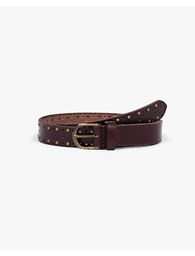 SKINNY PERFORATED BELT
