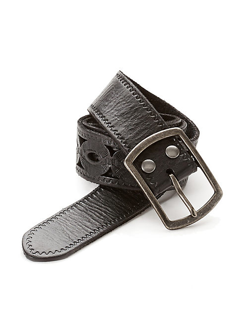 WOODLAND CUTOUT BELT, BLACK