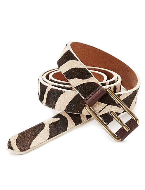 ZEBRA PRINT BELT, NATURAL