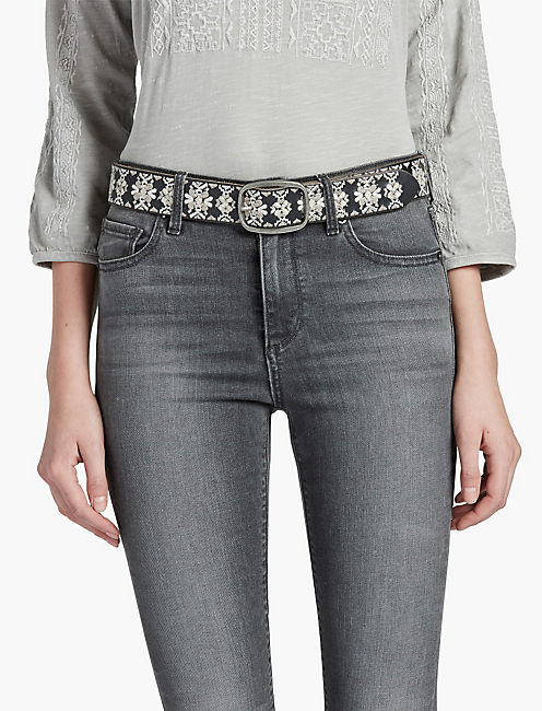 Lucky Metallic Embroidered Belt
