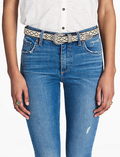 Lucky Western Embroidered Belt