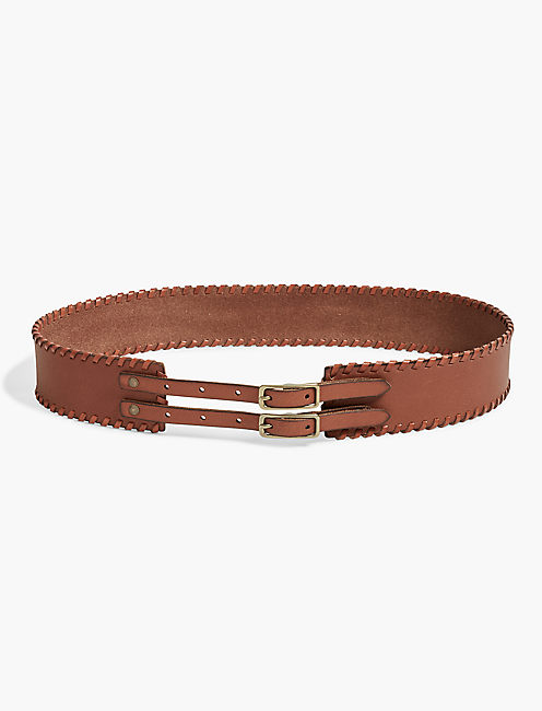 BUCKLE WHIPSTITCH BELT,