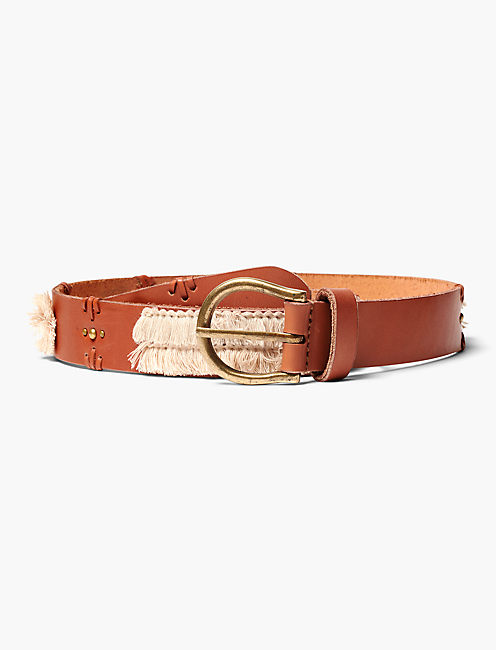 TWO TONE FRINGE BELT,