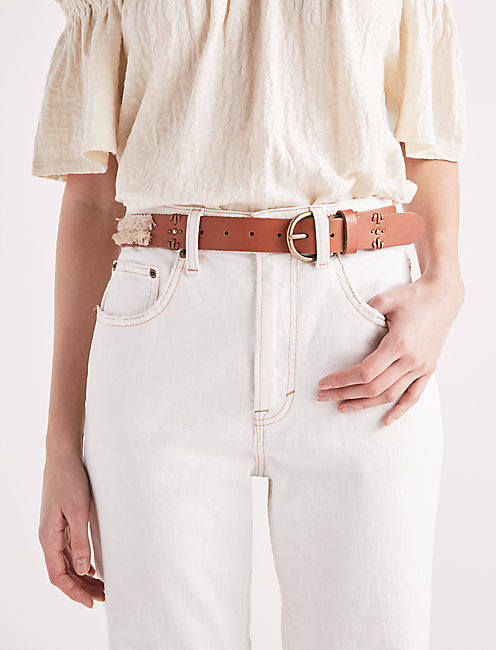 Lucky Two Tone Fringe Belt