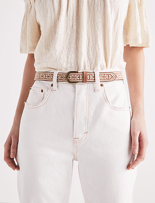 TEXTURED EMBROIDERY BELT,