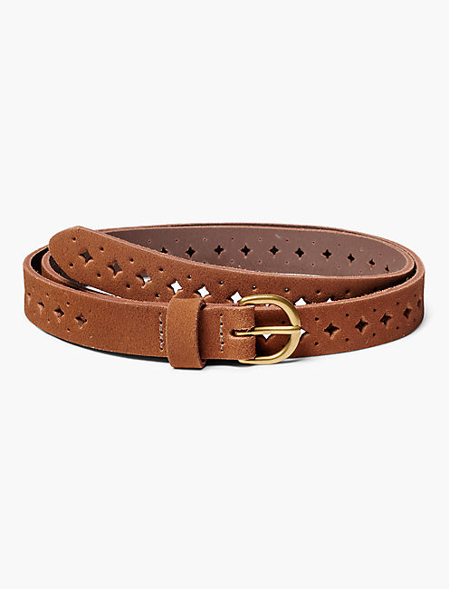 SUEDE PERFORATED BELT,
