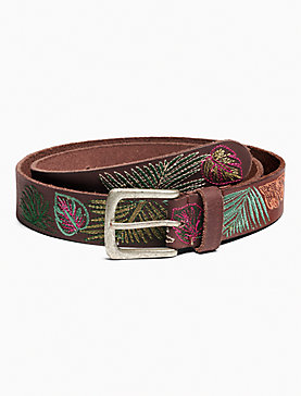 TROPICAL EMBROIDERED BELT