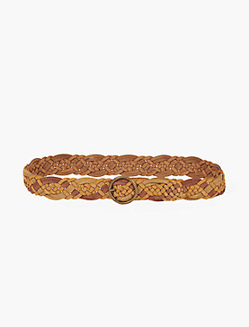 SAFFRON SUEDE BRAID BELT