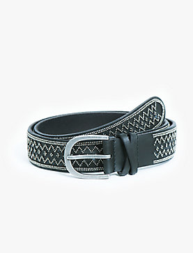 METAL BEADED BELT