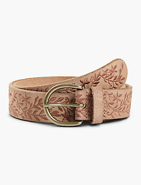 TONAL METALLIC EMBROIDERED BELT