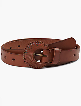 SKINNY BELT WITH LEATHER BUCKLE