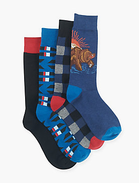 MENS CALIFORNIA BEAR SOCKS