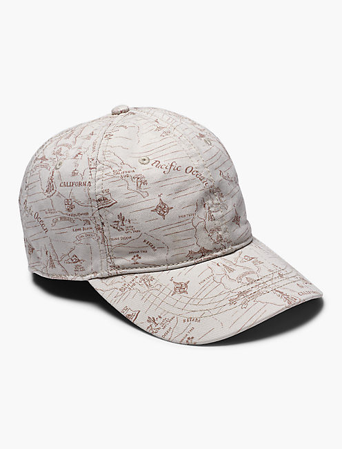 WEST COAST MAP BASEBALL HAT,