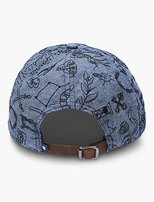 ALL OVER EMBROIDERED HAT, NAVY