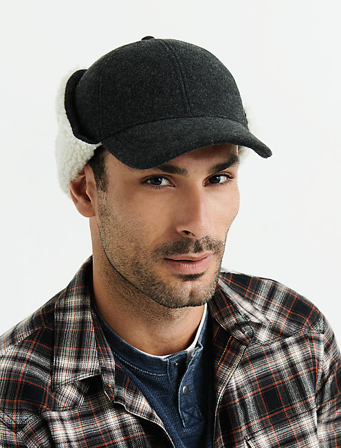 Brushed Wool Trapper Hat