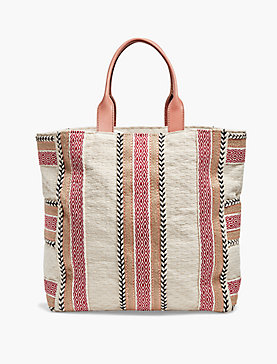 COTTON STRIPE TOTE
