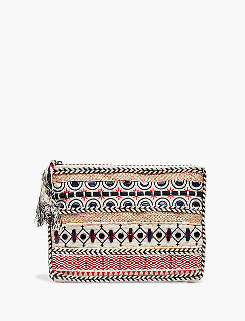 COTTON STRIPE POUCH,