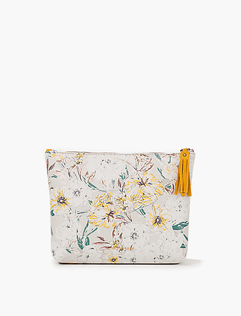 PARISIAN BOTANICAL LARGE COSMETIC POUCH,