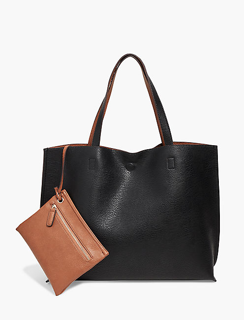 Lucky Reversible Vegan Leather Tote