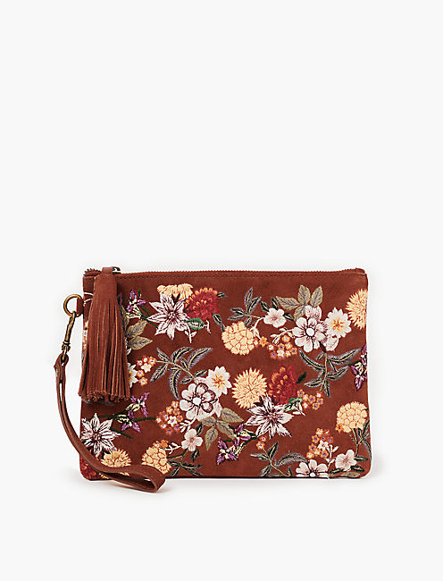 FLORAL EMBROIDERY POUCH,