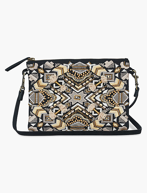 ART DECO EMBROIDERIED POUCH,