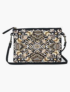 ART DECO EMBROIDERIED POUCH