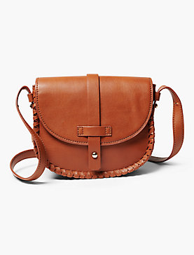 VEGAN SADDLE CROSSBODY BAG