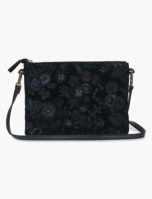 MIDNIGHT FLORAL EMBROIDERED, BLACK