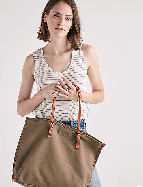 Lucky Canvas Solid Tote