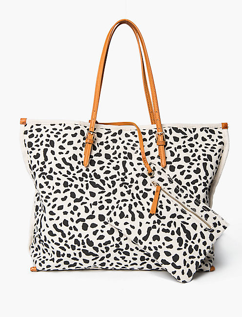 CANVAS PRINTED TOTE,