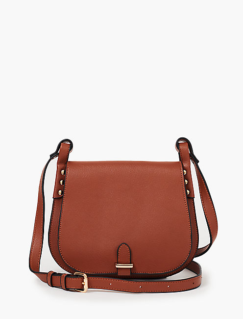VEGAN LEATHER MID SIZE HANDBAG,