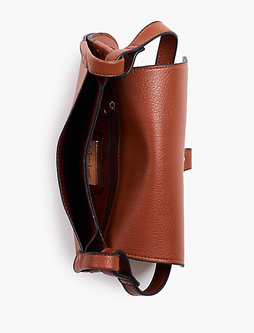 CONTRASTED LINED CROSSBODY BAG,
