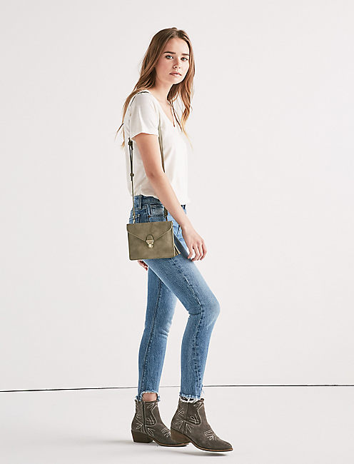 VEGAN LEATHER SMALL ENVELOPE CROSSBODY BAG,