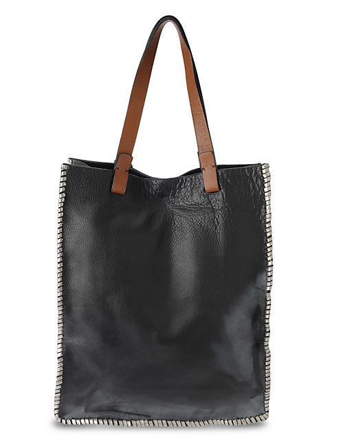LEATHER TOTE,