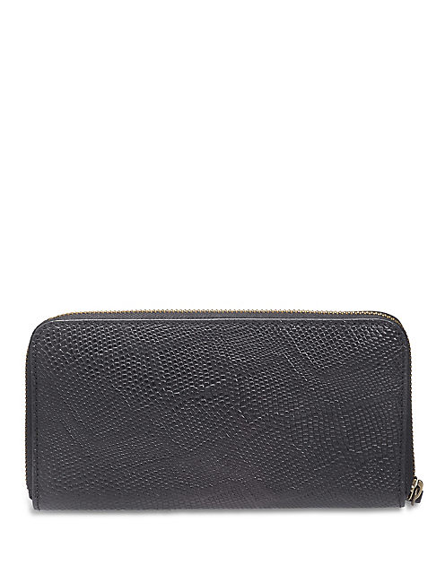 LEATHER WALLET, BLACK
