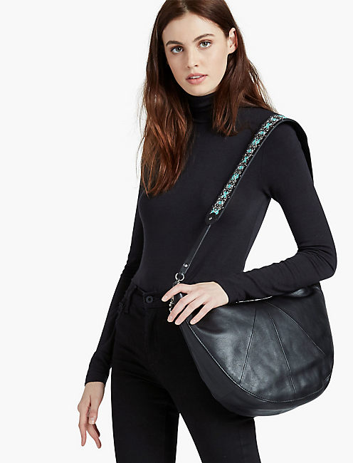 Lucky Embroidered Strap Hobo